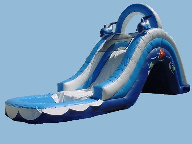 WATER SLIDE.  SIZE 37Lx11,5Wx17H  NAME- SEA WORLD WATER SLIDE
