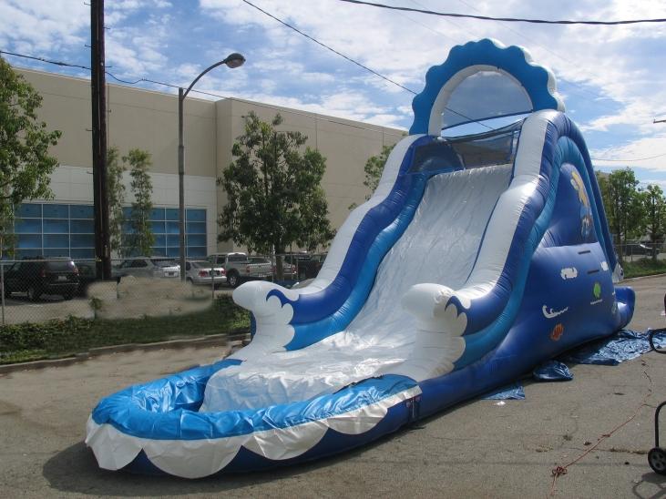 WATER SLIDE. NAME Ocean Wave Wet/Dry Slide+Pool.  SIZE-37Lx11,5Wx18H